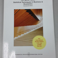 Statistical Techniques in Business and economics 17th edition by Lind