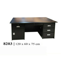 Meja Direktur -  Meja Kantor Sedang + Kaca 120 x 60 x 75 cm