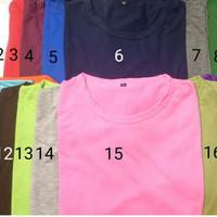 Jual Grosir Kaos Polos Murah Nyaman Dipakai Bahan Katun Combed 30s