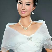 Wedding bolero cardigan pesta organza outer gaun pengantin wanita
