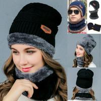 topi dan syal rajut pria wanita import bahan tebal