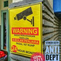 Stiker CCTV Anti Debt Collector