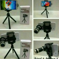 Universal Camera lensa Telezoom 8x + Tripod + Holder U