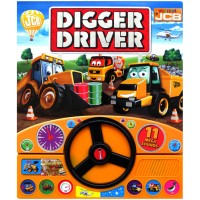 My First JCB DIgger Driver Sound Board Book with Steering Wheel