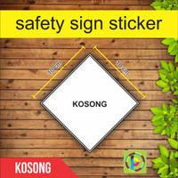 Safety Sign Sticker Limbah B3 - Kosong [size 10 cm]