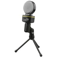 Mic Microphone Komputer - High Quality Smooth 3.5 Jack With Holder