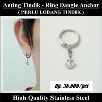 Anting Tindik Cowok Pria - Ring Dangle Anchor