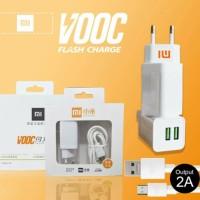 Charger XIAOMI VOOC FAST CHARGING Adaptor 2 Ampere 2 Port Usb ORI 99%