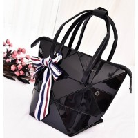 Tas Import Murah J110329 Black Shoulder Bag Scarf Korea Ribbon Bow H&M