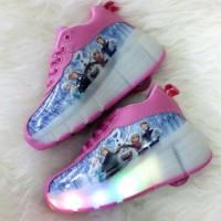 Sepatu Kets Roda Frozen , untuk Anak Cewe / Perempuan