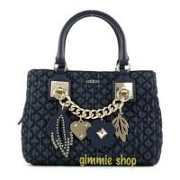 Tas tangan wanita handbag original guess blue jeans biru