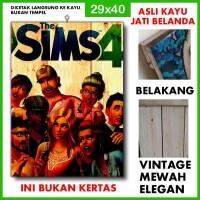 Poster The Sims 1 TSI01 Kayu Vintage Asli Dinding Rumah/kafe