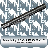 Baterai Laptop HP ProBook 430 G1 430 G2 Black N Grey