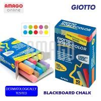 GIOTTO BLACKBOARD CHALK - 10 PCS - COLOR - (KAPUR TULIS) - 538900