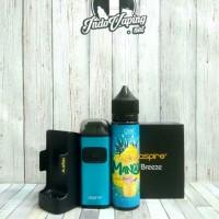PAKET PROMO VAPE - ASPIRE BREEZE + CHARGER DOCK + LIQUID FRUITY CMW