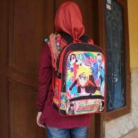 Tas Ransel Anak Gambar Naruto Boruto Backpack Sekolah TK SD Lucu Murah
