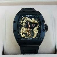 Jam Tangan Pria Richard Mille RM 057 Black Gold