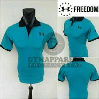 TERBATAS Polo Shirt Under Armour Biru Tosca  PALING MURAH