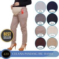 Celana hamil 4-9 Bulan Pinggang Karet Celana Kerja Ibu Hamil