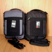 Jual Tas Ransel Selempang Laptop 3in1 Q-LAB FBC7 Grey Abu & Black 14