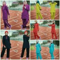 busana baju muslim muslimah sporty training olahraga bms 02 believe