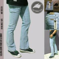 Celana Jeans pria OCTHA Striet Cutbray Bioblit Panjang