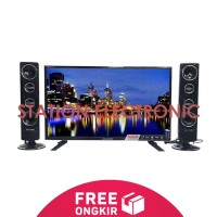 POLYTRON PLD-24T8511 HD LED TV w Speaker Tower Cinemax 24 inch - Fre