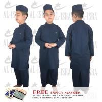 DOHA Sepasang Gamis Anak-Anak Laki-laki + Peci Al-Isra Ukuran 7, 8, 9