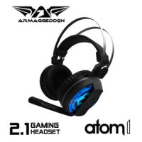 Atom 1 (7 Colour Lighting Pulsating EFX) Gaming Headset By Armaggeddon