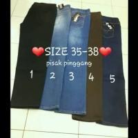 Celana Pendek TERBARU celana jegging jeans/denim wanita pinggang karet