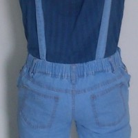 celana wanita terbaru Overall Celana Kodok Ripped Jeans Washed