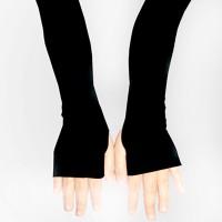 Manset Tangan Hitam Spandex Tebal - Sarung Tangan - Lengan Panjang