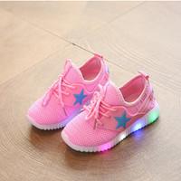 sepatu lampu led anak adidas yeezy pink / star pink