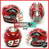 HELM CUSTOM REPLIKA BASIC INK CENTRO MEREK SHOEI MOTO GP SERIES (2)