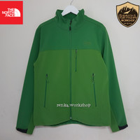 The North Face TNF Apex Bionic Shoftshell Jacket - Size M EU Green