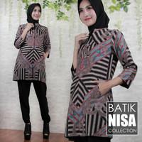 Harga baju batik blouse tunik atasan wanita loreng 125 katun cap | Pembandingharga.com