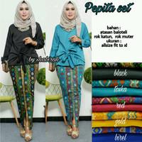 Pepita set(setelan wanita,baju remaja,kebaya,batik modern,fashion)