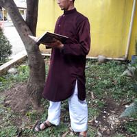 Jual baju koko maroon baju gamis pria pakistan Murah