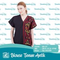 Blouse Tenun / Blus Tenun / Baju Atasan Batik Tenun Etnik Antik XIV