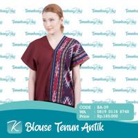 Blouse Tenun / Blus Tenun / Baju Atasan Batik Tenun Etnik Antik XVI