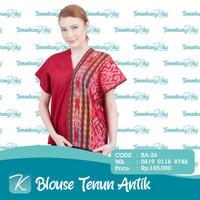 Blouse Tenun / Blus Tenun / Baju Atasan Batik Tenun Etnik Antik XIII