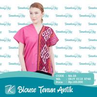 Blouse Tenun / Blus Tenun / Baju Atasan Batik Tenun Etnik Antik XV