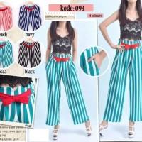 P_298 (Stripe Kulot Skirt / Celana Panjang Kulot Motif Garis)