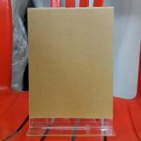 Papan Akrilik / Acrylic untuk Pajang Brosur / Pengumuman , Ukuran A5