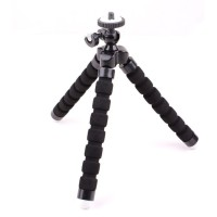 Tripod Mini Action Camera Mini Tripod Octopus Action Camera Black
