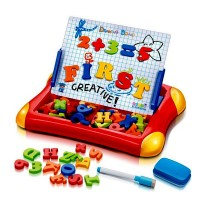 Brick Lego Puzzle Magnetic Learning Case Drawing Board First Classroom