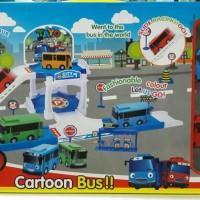 Lego TAYO The LITTLE BUS Parking Garage Mainan Gedung Parkir Jalan
