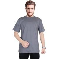 Promo Omano darkgrey VL kaos T shirt pria cotton abu tua Limited edit