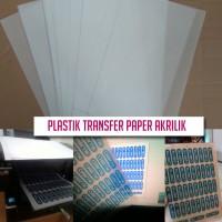 25 lbr Kertas Plastik Transfer Paper Ke Akrilik Solusi Sablon