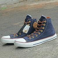 sepatu sneakers untuk pria dan wanita converse navy indo tali tan